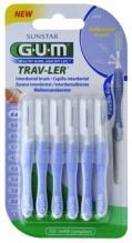 GUM® Trav-Ler® hambavahehari, silinder, 6tk komplektis 0,6mm hele lilla