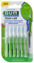 GUM® Trav-Ler® hambavaheharjad, koonus, 6tk komplektis 1,1mm Roheline