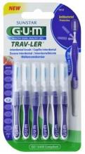 GUM® Trav-Ler® hambavaheharjad, silinder, 6tk komplektis 1,2mm Lilla