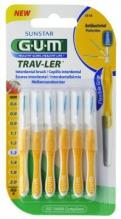 GUM® Trav-Ler® hambavaheharjad, koonus, 6tk komplektis 1,3mm Kollane
